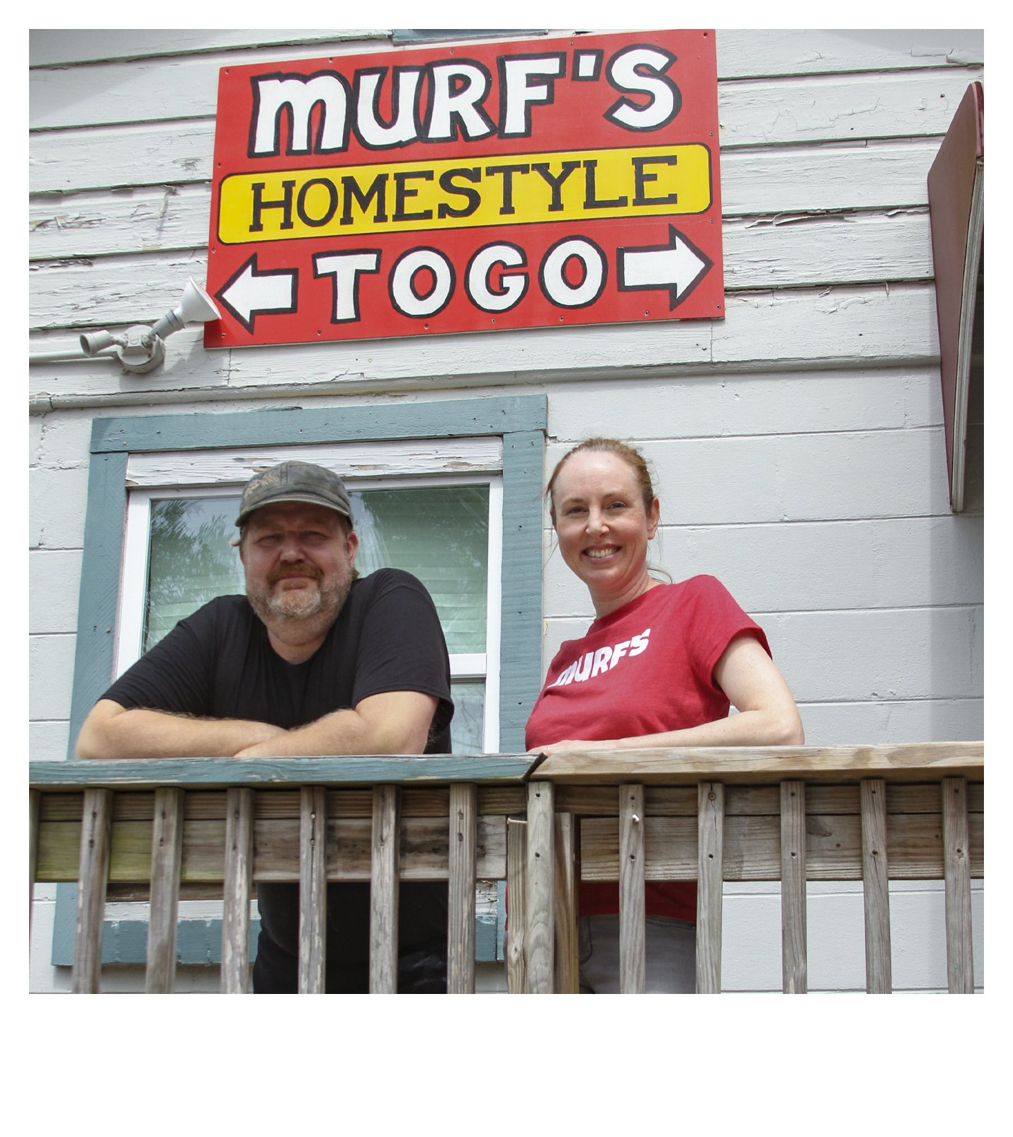 Murf and Lindsay in front of Murfs Homestyle